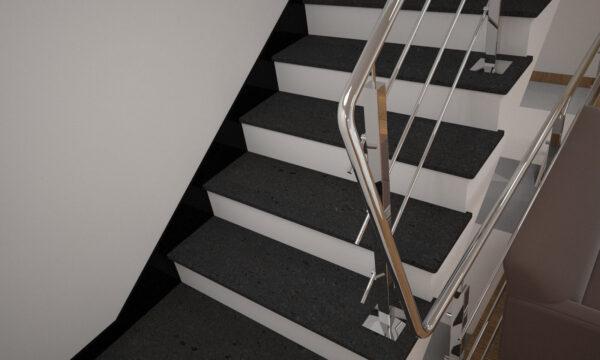 Плинтус для лестницы из базальта