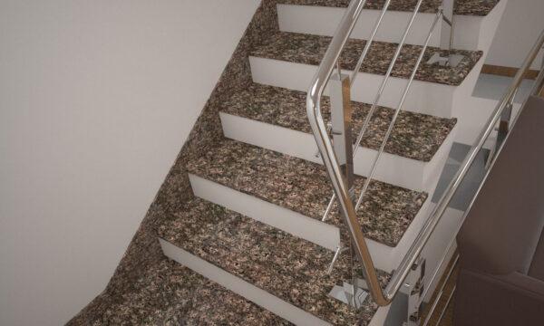 Плінтус для сходів з Дідковицького граніту