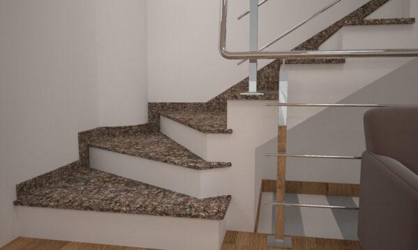 Сапожок для лестницы из Дидковичского гранита
