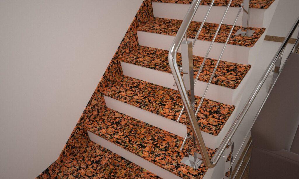 Плинтус для лестницы из Емельяновского гранита