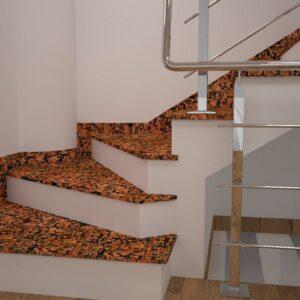 Чобіток для сходів з Омелянівського граніту