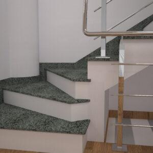 Сапожок для лестницы из Гацковского гранита