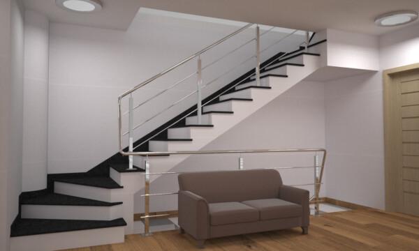Лестница из камня габбро