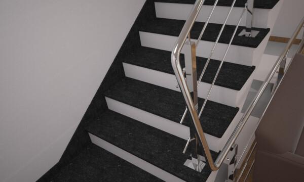 Плинтус для лестницы из камня габбро