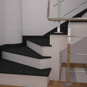 Чобіток для сходів з каменю габро