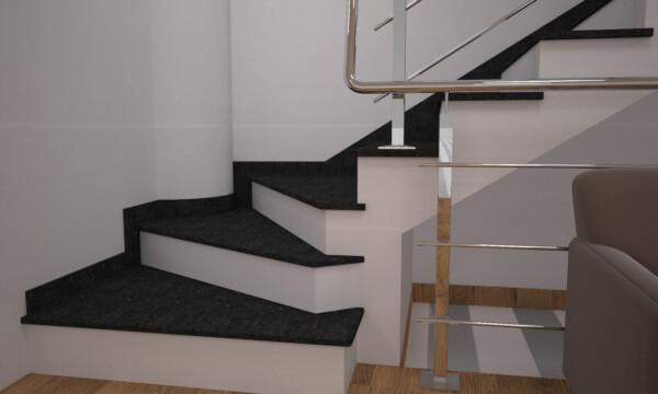Сапожок для лестницы из камня габбро