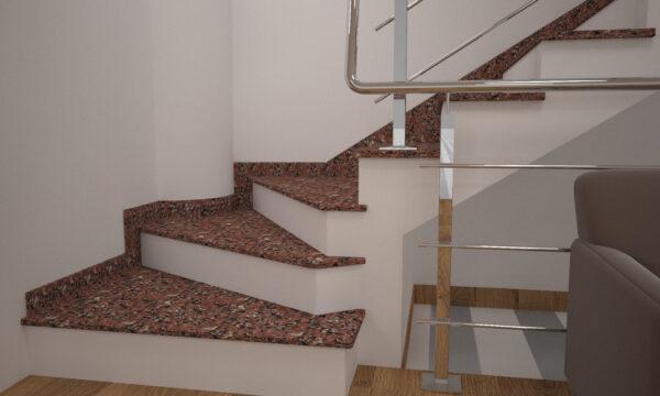Сапожок для лестницы из Капустинского гранита