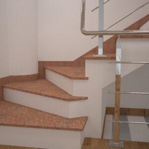 Сапожок для лестницы из Кишинского гранита