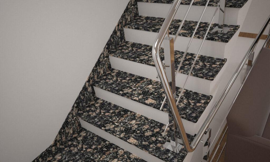 Плинтус для лестницы из Корнинского гранита