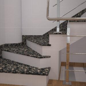 Сапожок для лестницы из Корнинского гранита