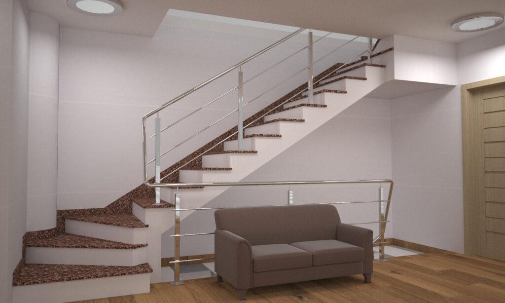 Лестница из Крупского гранита