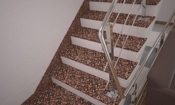 Плинтус для лестницы из Крупского гранита