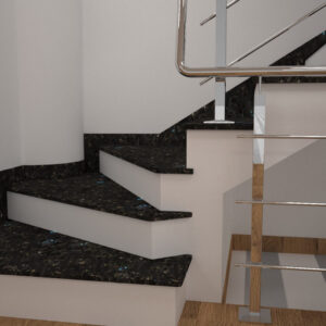 Чобіток для сходів з лабрадориту Irina Blue