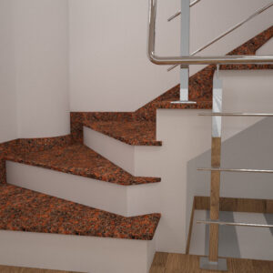 Чобіток для сходів з Лезниківського граніту