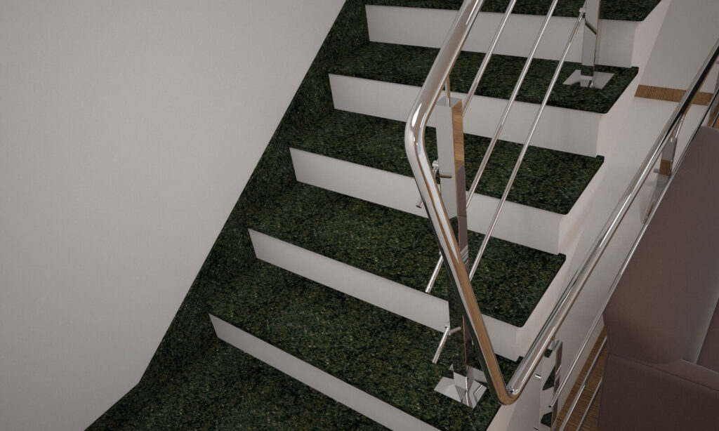 Плинтус для лестницы из Маславского гранита