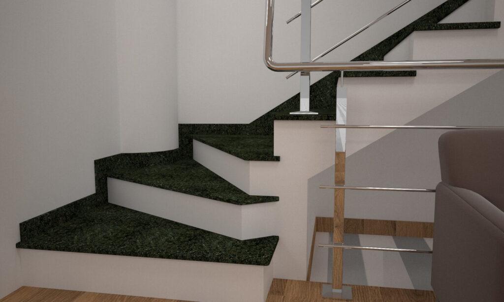 Сапожок для лестницы из Маславского гранита