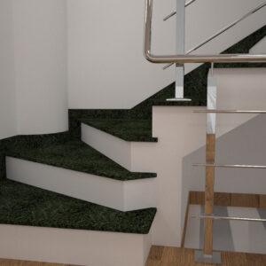 Чобіток для сходів з Маславського граніту