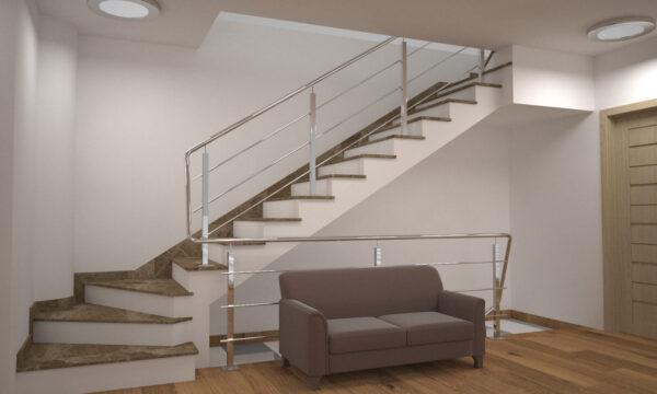 Модель лестницы из турецкого мрамора Emperador Light