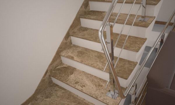 Плинтус для лестницы из турецкого мрамора Emperador Light