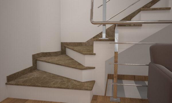Сапожок для лестницы из турецкого мрамора Emperador Light