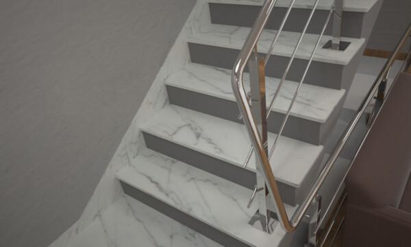 Плінтус для сходів з мармуру Mugla White