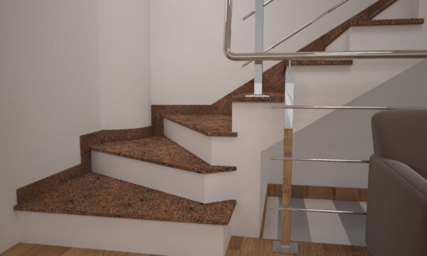 Чобіток для сходів з Новоданилівського граніту