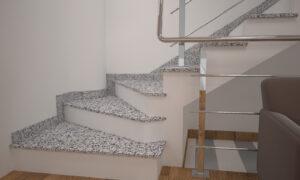 Сапожок для лестницы из Покостовского гранита