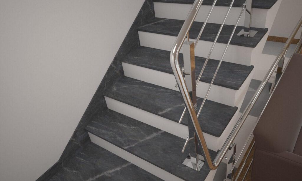 Плинтус для лестницы из Рахны-Полевского гранита