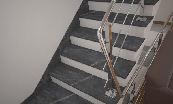 Плінтус для сходів з Рахни-Полівського граніту