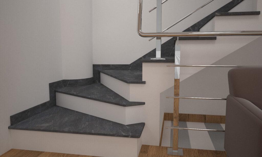 Сапожок для лестницы из Рахны-Полевского гранита