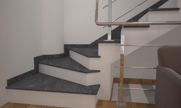 Чобіток для сходів з Рахни-Полівського граніту