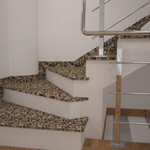 Сапожок для лестницы из Софиевского гранита