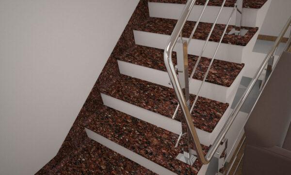 Плинтус для лестницы из Токовского гранита