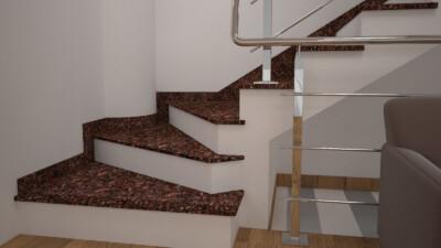 Интерьерная лестница из Токовского гранита
