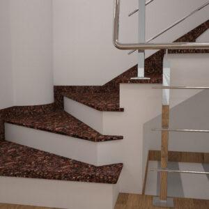 Сапожок для лестницы из Токовского гранита