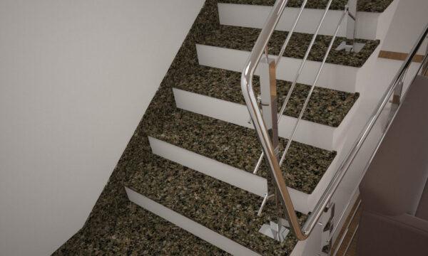 Плинтус для лестницы из Васильевского гранита