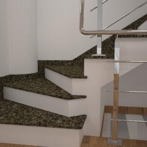 Сапожок для лестницы из Васильевского гранита