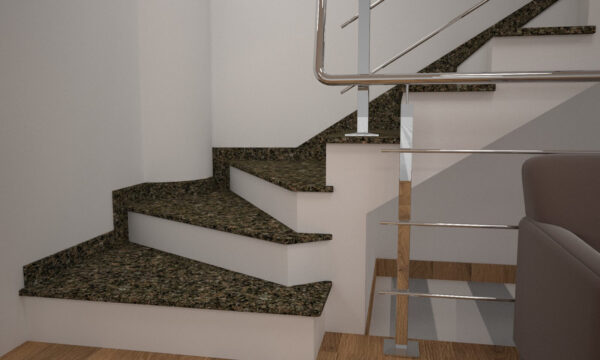 Чобіток для сходів з Василівського граніту