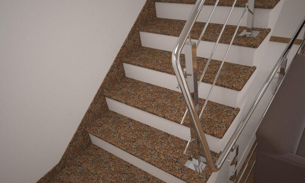 Плинтус для лестницы из Жадковского гранита