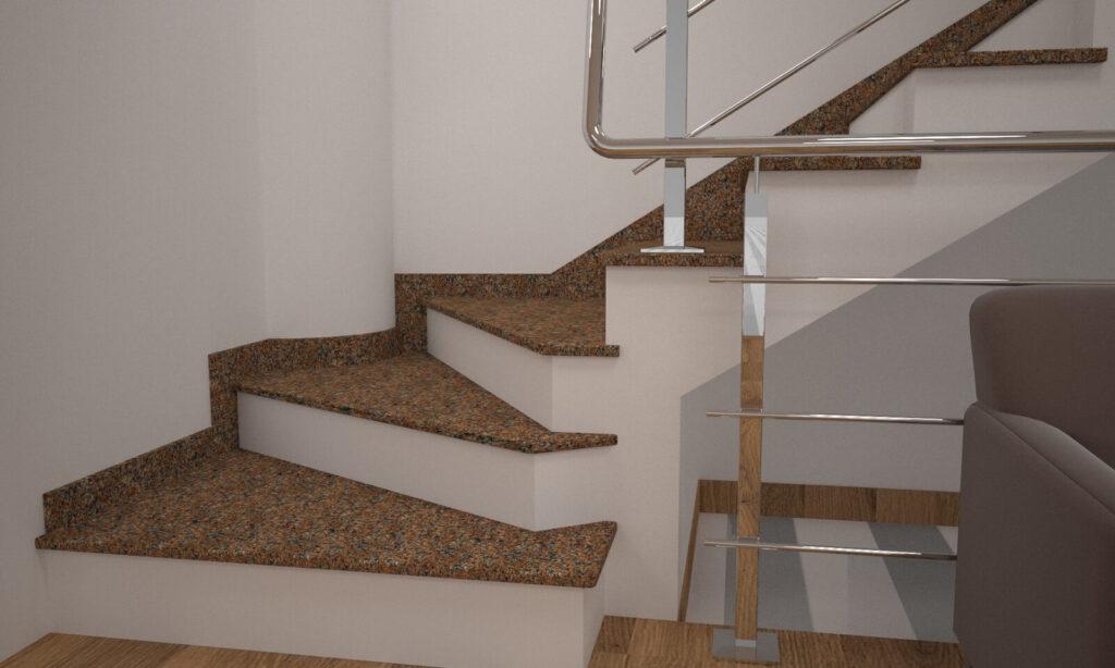 Сапожок для лестницы из Жадковского гранита