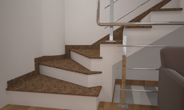 Чобіток для сходів з Жадківського граніту