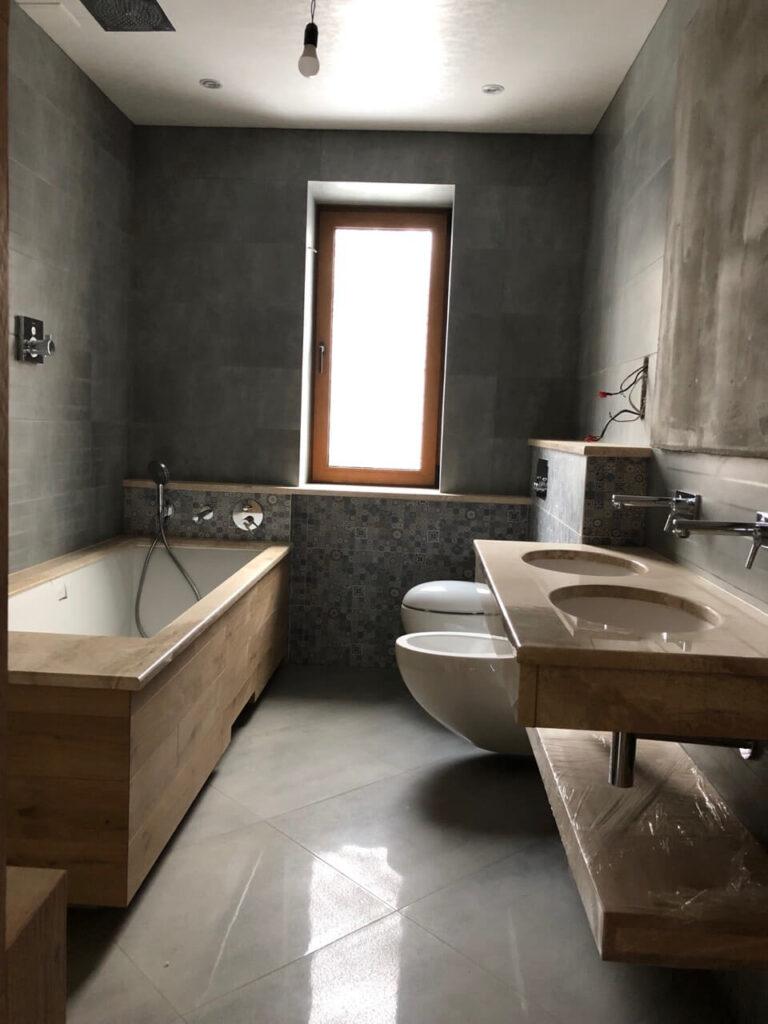 Ванная комната в мраморе Daino Reale
