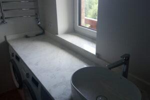 Столешница для ванной из белого мрамора Victory